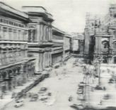 "Sotheby's New York image shows a 1968 oil painting by German artist Gerhard Richter titled ""Domplatz, Mailand"" in this handout released on May 15, 2013. REUTERS/Sotheby's New York/Handout via Reuters"