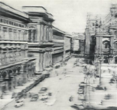 Sotheby's New York image shows a 1968 oil painting by German artist Gerhard Richter titled ''Domplatz, Mailand'' in this handout released on May 15, 2013. REUTERS/Sotheby's New York/Handout via Reuters