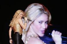 Colombian pop star Shakira performs during her concert in Caracas, March 27, 2011. Shakira is currently on her The Sun Comes Out World Tour. REUTERS/Gil Montano