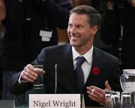 Nigel Wright, Canadian Prime Minister Stephen Harper's chief of staff, prepares to testify before the Commons ethics committee on Parliament Hill in Ottawa in this November 2, 2010 file photo. REUTERS/Chris Wattie