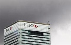The HSBC building is seen on Canary Wharf in London May 11, 2011. REUTERS/Olivia Harris