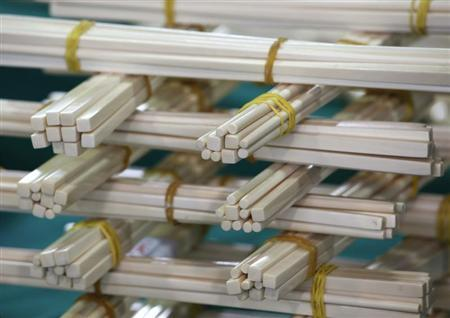 Ivory chopsticks seized by the Hong Kong Customs and Excise Department are displayed during a news conference in Hong Kong November 15, 2011. REUTERS/Bobby Yip