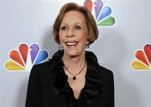 "Actress Carol Burnett arrives for the taping of ""Betty White's 90th Birthday: A Tribute to America's Golden Girl"" in Los Angeles January 8, 2012. REUTERS/Sam Mircovich"