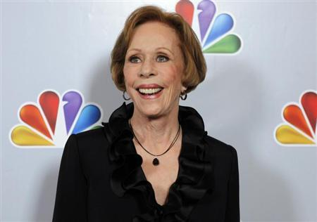 Actress Carol Burnett arrives for the taping of ''Betty White's 90th Birthday: A Tribute to America's Golden Girl'' in Los Angeles January 8, 2012. REUTERS/Sam Mircovich