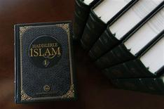 The new seven-volume encyclopaedia of hadiths is pictured at the library of Turkey's Religious Affairs Directorate in Ankara May 21, 2013. REUTERS/Umit Bektas