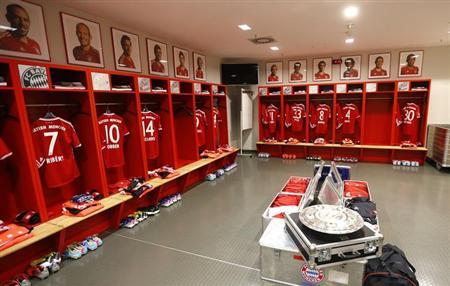 The German Soccer Championship Trophy Is Seen Inside Dressing Room Of Bayern Munich Prior To Their First Division Bundesliga Match Against