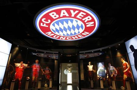 A Champions League trophy of German Bundesliga first division football club Bayern Munich is seen in a museum 'Erlebniswelt' in Munich May 14, 2013. REUTERS/Michaela Rehle