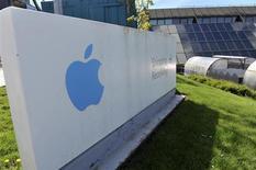 Le site irlandais d'Apple, basé à Cork. Le groupe américain, accusé par le Sénat américain d'avoir transféré des milliards de dollars de profits en Irlande afin d'échapper au fisc, bénéficie d'une exonération fiscale presque totale en Irlande depuis 1980. /Photo prise le 21 mai 2013/REUTERS/Michael MacSweeney