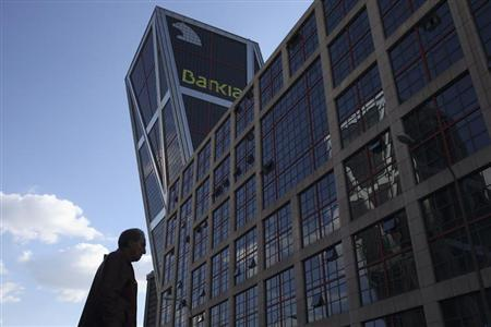 The headquarters of Spanish nationalized lender Bankia is pictured in Madrid April 24, 2013. REUTERS/Juan Medina