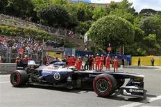 Finlandês Valterri Bottas, da Williams, pilota durante terceira sessão de treinos livres do GP de Mônaco. A Mercedes está conversando com a Williams sobre o fornecimento de motores de Fórmula 1 a partir de 2014, disse Toto Wolff, chefe da montadora, neste sábado. 25/05/2013 REUTERS/Benoit Tessier