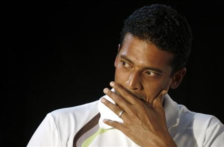 Indian tennis player Mahesh Bhupathi attends a news conference in New Delhi May 23, 2007. REUTERS/Vijay Mathur