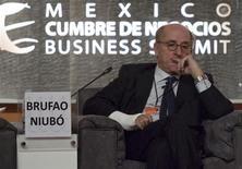 Antonio Brufau, chairman of Spanish oil company Repsol, attends the Business Summit 2012 in Queretaro November 12, 2012. REUTERS/Demian Chavez