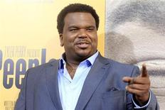 """Actor Craig Robinson, one of the stars of the new film """"Peeples"""" produced by Tyler Perry arrives at the film's premiere in Hollywood May 8, 2013. REUTERS/Fred Prouser"""