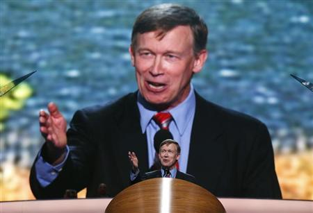 Colorado Governor John Hickenlooper addresses the second session of the Democratic National Convention in Charlotte, North Carolina September 5, 2012. REUTERS/Jim Young