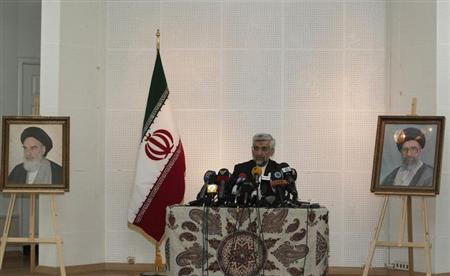 Iran's chief negotiator Saeed Jalili attends a news conference at the Iranian Consulate in Istanbul May 16, 2013. REUTERS/Osman Orsal/Files