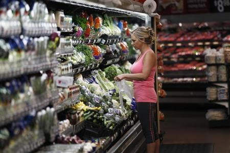 A woman shops at a Walmart Supercenter in Rogers, Arkansas June 6, 2013. The annual shareholders meeting for Walmart takes place June 7, 2013. REUTERS/Rick Wilking