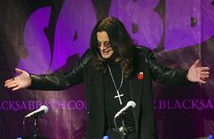 Black Sabbath lead singer Ozzy Osborne attends a news conference with the other original members of the band to announce the reunion of the rock group at the Whiskey A Go Go, the club where the band first performed 41 years ago, in Los Angeles, California November 11, 2011. REUTERS/David McNew