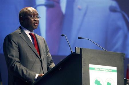 President of African Development Bank Donald Kaberuka speaks during the opening ceremony of the annual meeting of the bank in Abidjan May 27, 2010. REUTERS/Luc Gnago