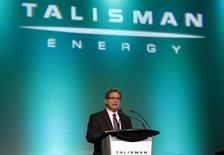 President and Chief Executive of Talisman Energy Hal Kvisle addresses shareholders during the company's annual general meeting in Calgary, Alberta, May 1, 2013. REUTERS/Todd Korol