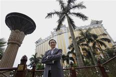 Francis Lui, Deputy Chairman of the Galaxy Entertainment Group, poses outside Galaxy Macau in Macau June 13, 2013. REUTERS/Paul Yeung