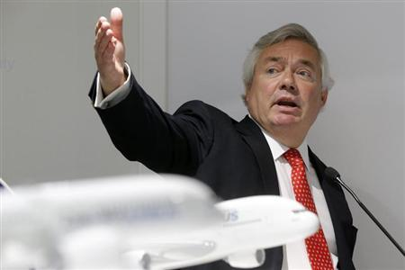 Airbus sales chief John Leahy attends a final news conference at the 50th Paris Air Show, at the Le Bourget airport near Paris, June 20, 2013. REUTERS/Pascal Rossignol