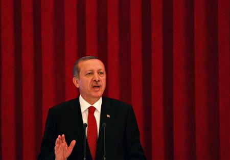 Turkey's Prime Minister Tayyip Erdogan speaks during conference in Ankara June 18, 2013. REUTERS/Dado Ruvic