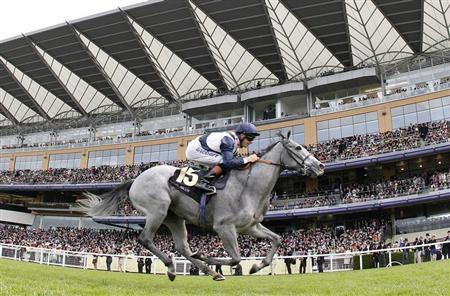 Richard Hughes rides Sky Lantern to victory in the Coronation Stakes during the fourth day of the Royal Ascot horse racing festival at Ascot, southern England, June 21, 2013. REUTERS/Darren Staples