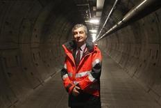 Jacques Gounon, PDG d'Eurotunnel. L'opérateur du tunnel sous la Manche, dont l'action a perdu plus de 18% depuis l'injonction de Bruxelles le 20 juin sur les tarifs de l'Eurostar, a décidé de saisir les autorités de marché pour s'assurer du respect de la réglementation boursière. /Photo d'archives/REUTERS/Pascal Rossignol