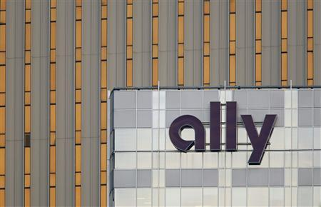 An Ally Financial sign is seen on a building in Charlotte, North Carolina in this May 1, 2012 file photo. REUTERS/Chris Keane/Files