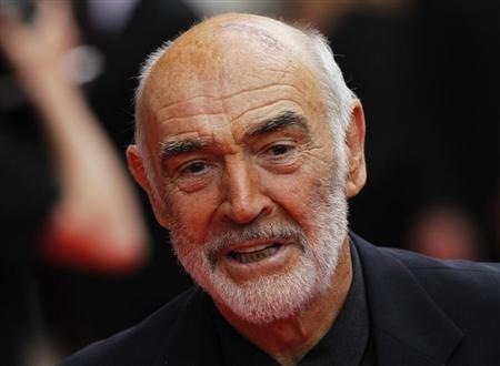 Actor Sean Connery arrives for the Edinburgh International Film Festival opening night showing of the animated movie 'The Illusionist' at the Festival Theatre in Edinburgh, Scotland in this June 16, 2010 file photo. REUTERS/David Moir