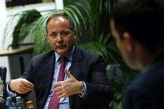 Benoit Coeure, executive board member of the European Central Bank (ECB) gestures during an interview with Reuters in Frankfurt February 26, 2013. REUTERS/Ralph Orlowski