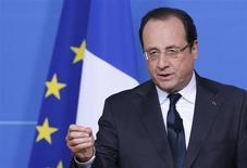 O presidente da França, François Hollande, realiza coletiva de imprensa em Bruxelas, Bélgica. 28/06/2013 REUTERS/François Lenoir