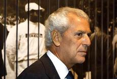 Pireli president Marco Tronchetti Provera arrives at the opening of Pirelli flagship store downtown in Milan, Septmber 20, 2011. REUTERS/Stefano Rellandini