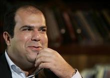 EasyGroup Chairman Stelios Haji-Ioannou speaks during an interview with Reuters in Dubai February 25, 2007. REUTERS/Mohammed Salem