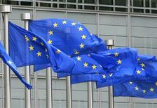 La Commission européenne a accusé lundi 13 banques ainsi que l'agence Markit et l'International Swaps and Derivatives Association (ISDA) d'enfreindre les règles de la concurrence sur le marché des dérivés de crédit. /Photo d'archives/REUTERS/Yves Herman