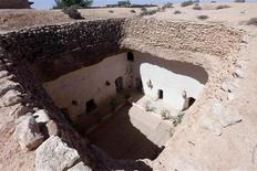 A view of a troglodyte cave house in the western mountain town of Gharyan, 100 km (62 miles) south of Tripoli, June 15, 2013. REUTERS/Ismail Zitouny