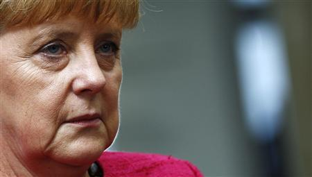 German Chancellor Angela Merkel is pictured during her visit to technology company Trumpf in Ditzingen, near Stuttgart July 2, 2013. REUTERS/Michaela Rehle