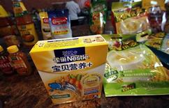 Nestle products are seen at a Nestle research and development center in Shanghai October 18, 2012. REUTERS/Carlos Barria
