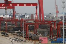 A view of the Rongsheng Heavy Industries shipyard is seen in Nantong, Jiangsu province, in this file photo taken May 21, 2012. REUTERS/Aly Song/Files