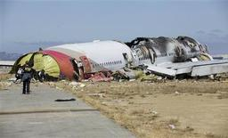 U.S. National Transportation Safety Board (NTSB) photo shows the wreckage of Asiana Airlines Flight 214 that crashed at San Francisco International Airport in San Francisco, California in this handout released on July 7, 2013. REUTERS/NTSB/Handout
