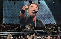 Singer Bruce Springsteen and the E-street band perform during their concert at Molinon Stadium in Gijon, northern Spain June 26, 2013. REUTERS/Eloy Alonso