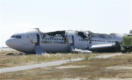 U.S. National Transportation Safety Board (NTSB) photo shows Asiana Airlines Flight 214 at San Francisco International Airport in San Francisco, California released on July 7, 2013. REUTERS/NTSB/Handout