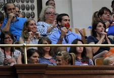 Anti-abortion activists react after the vote passing the HB2 bill restricting abortion rights in Austin, Texas July 9, 2013. REUTERS/Mike Stone