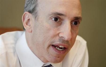 Gary Gensler, chairman of the Commodity Futures Trading Commission (CFTC), speaks during an interview with Reuters in London October 2, 2012. REUTERS/Simon Newman