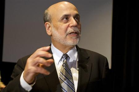 Federal Reserve Chairman Ben Bernanke speaks at a meeting of the National Bureau of Economic Research in Cambridge, Massachusetts July 10, 2013. REUTERS/Dominick Reuter