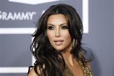Television personality Kim Kardashian arrives at the 53rd annual Grammy Awards in Los Angeles, California February 13, 2011 file photo. REUTERS/Danny Moloshok