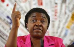 Italian Minister for Integration Cecile Kyenge gestures during a news conference in Rome June 19, 2013. REUTERS/Tony Gentile