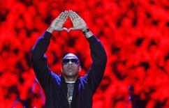 American rapper Jay-Z performs during the Heineken Open'er Festival in Gdynia, northern Poland, July 5, 2008. REUTERS/Kacper Pempel