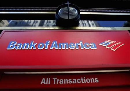 The sign of a Bank of America ATM machine is pictured in downtown Los Angeles October 8, 2010.REUTERS/Fred Prouser