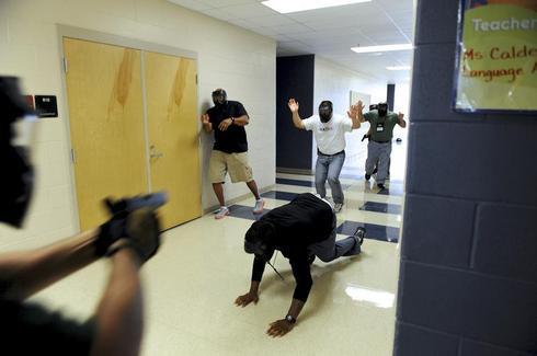 School shooting simulation